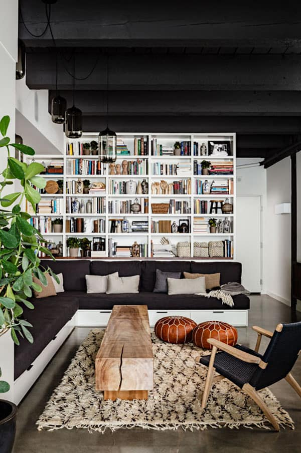 Cozy Living Spaces with Books-04-1 Kindesign