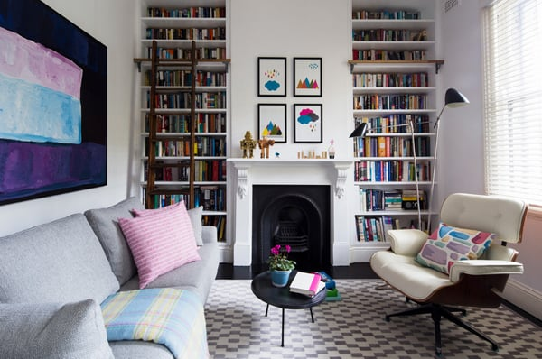 Cozy Living Spaces with Books-11-1 Kindesign