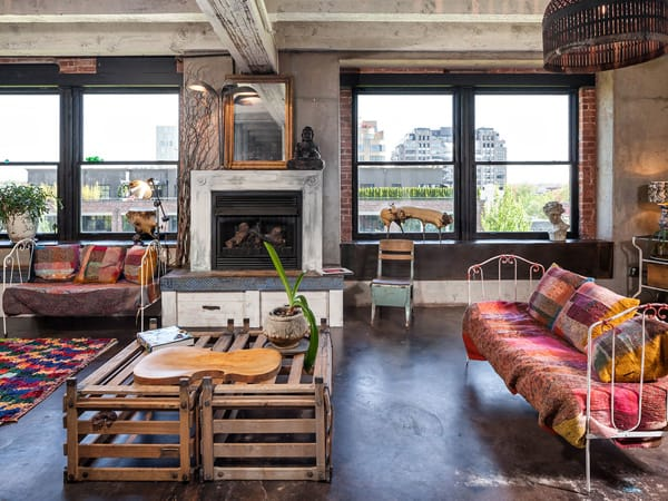 featured posts image for Portland loft features a shabby chic style aesthetic