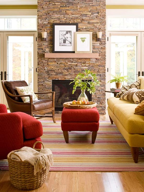Warm Color Schemes-Living Room-27-1 Kindesign