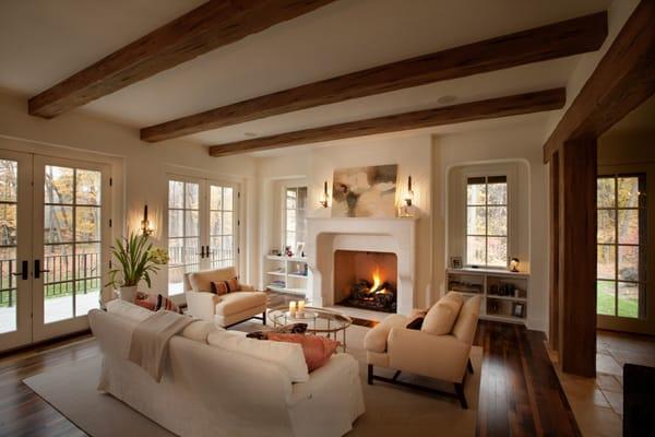 Warm Color Schemes-Living Room-37-1 Kindesign