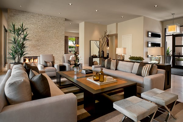 Warm Color Schemes-Living Room-38-1 Kindesign