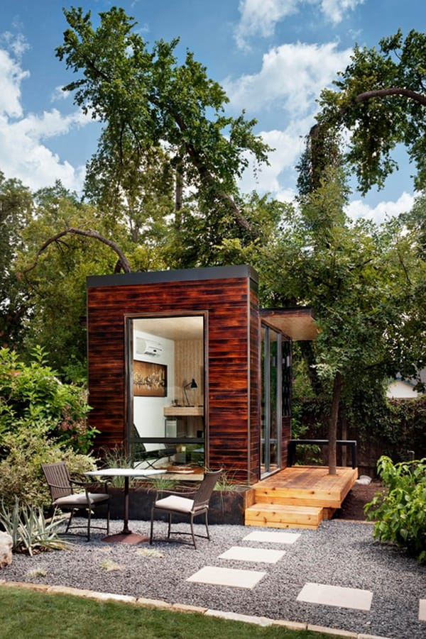 featured posts image for 92 Square Foot Backyard Office in Austin by Sett Studio