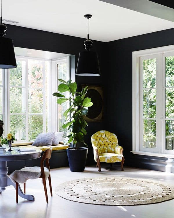 Black Painted Walls-29-1 Kindesign