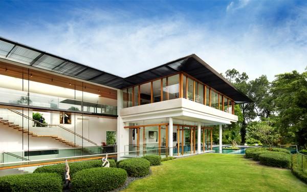 Tropical Bungalow Design In Singapore Dalvey Road House