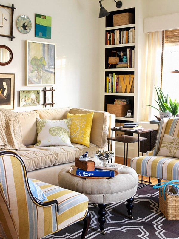 Small Drawing Room: 51 Inspiring Small Living Rooms Using All Available Space