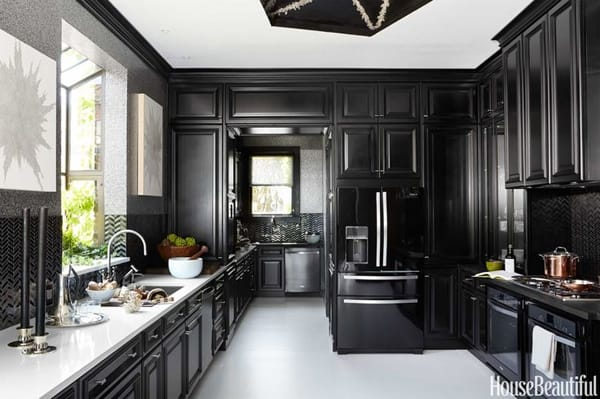 Black and White Kitchens-12-1 Kindesign