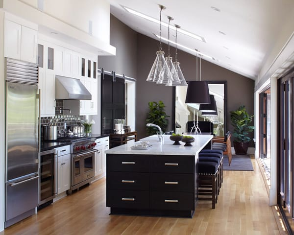 Black and White Kitchens-32-1 Kindesign