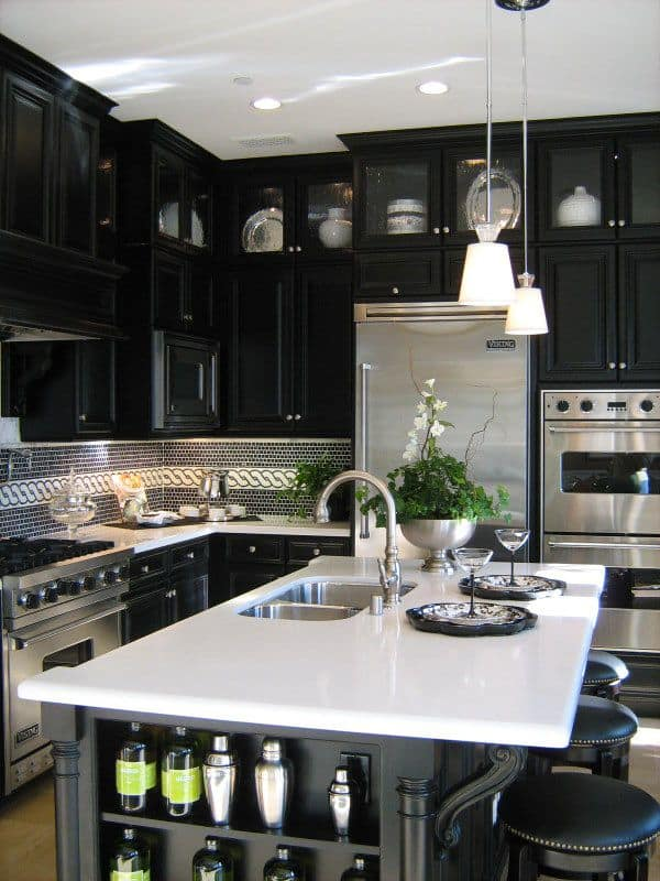 Black and White Kitchens-46-1 Kindesign