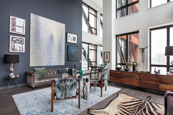 featured posts image for Trendy glamor showcased in penthouse loft in DUMBO