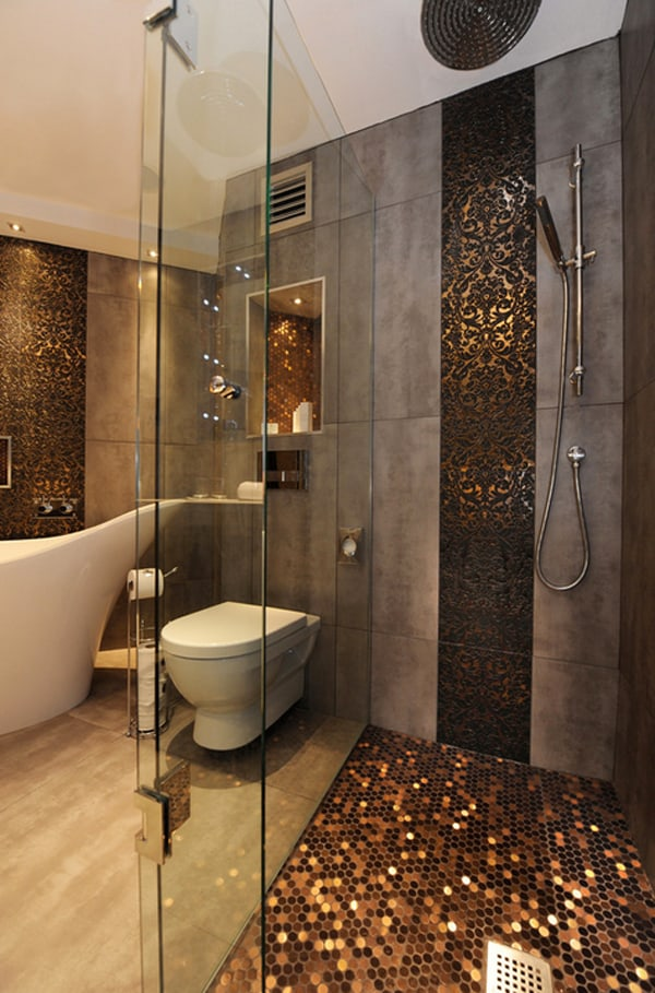 featured posts image for Create a feeling of bathroom space: Floor to ceiling shower tile