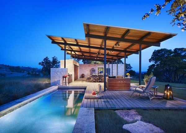 featured posts image for Stunning open air pavilion in Texas: Story Pool House