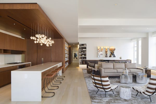featured posts image for Modern Tribeca Loft renovation with stunning design details