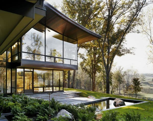 featured posts image for Steel and glass shelter in Virginia: Blue Ridge Residence