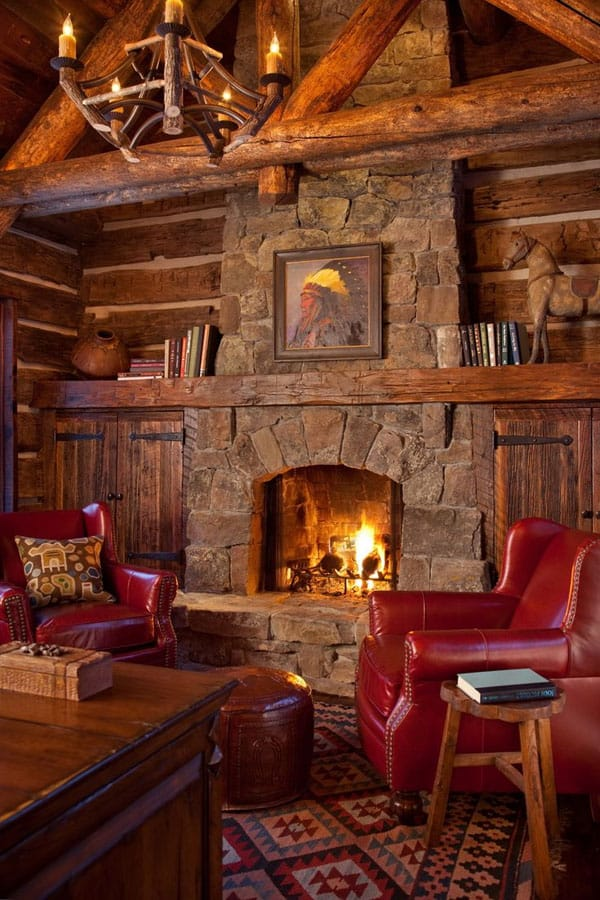 Cabin Style Living Rooms 03 1 Kindesign 47 Extremely cozy and rustic cabin style living rooms