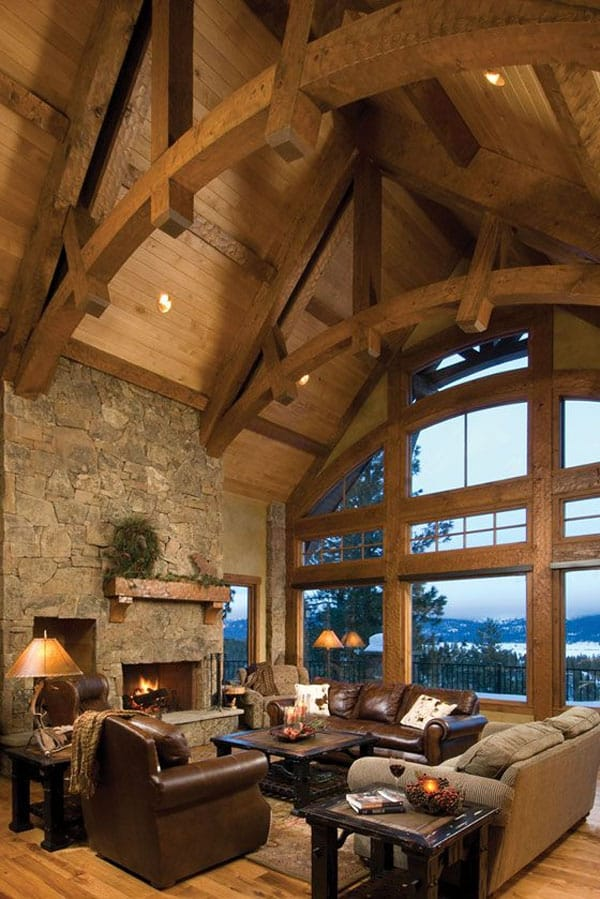 Cabin Style Living Rooms-10-1 Kindesign
