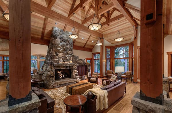 Rustic Log Home Decor: 47 Extremely Cozy And Rustic Cabin Style Living Rooms
