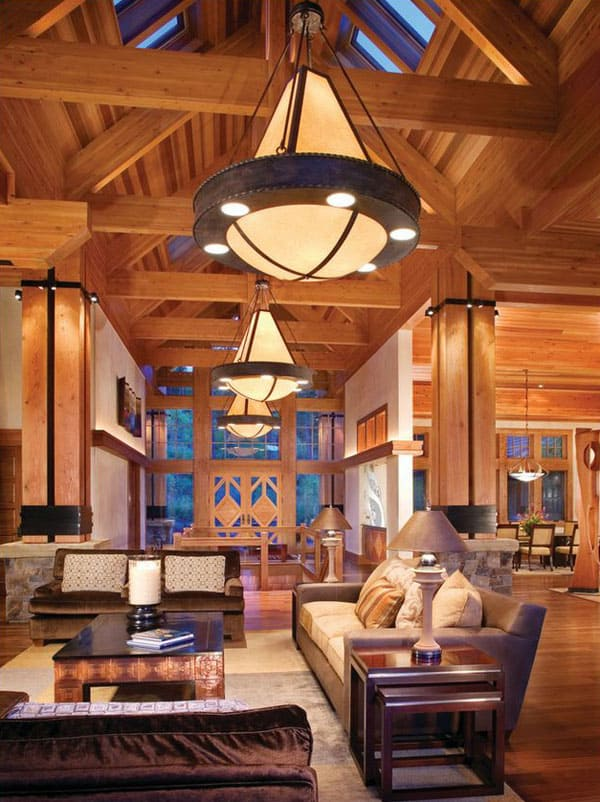 Cabin Style Living Rooms-16-1 Kindesign