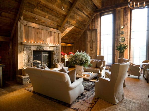 Cabin Style Living Rooms-31-1 Kindesign