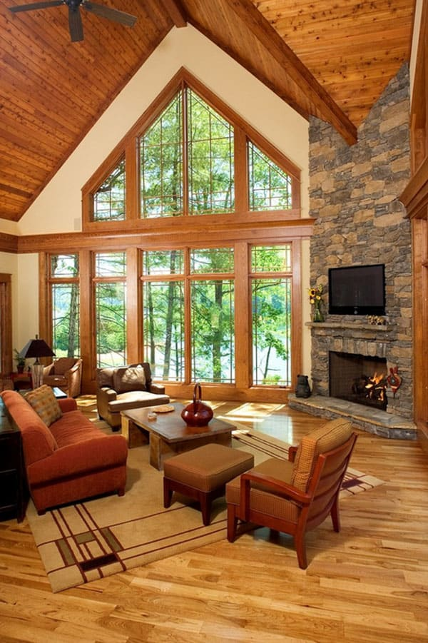 Cabin Style Living Rooms-38-1 Kindesign