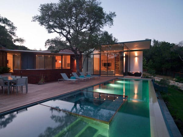 featured posts image for Sustainably Designed Cascading Creek House in Austin