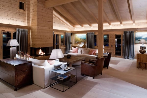 featured posts image for Contemporary yet cozy weekend hideaway in Swiss Alps: Chalet Gstaad