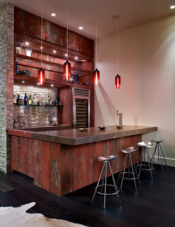 58 Exquisite Home Bar Designs Built For Entertaining - Home-bar-decorating-ideas