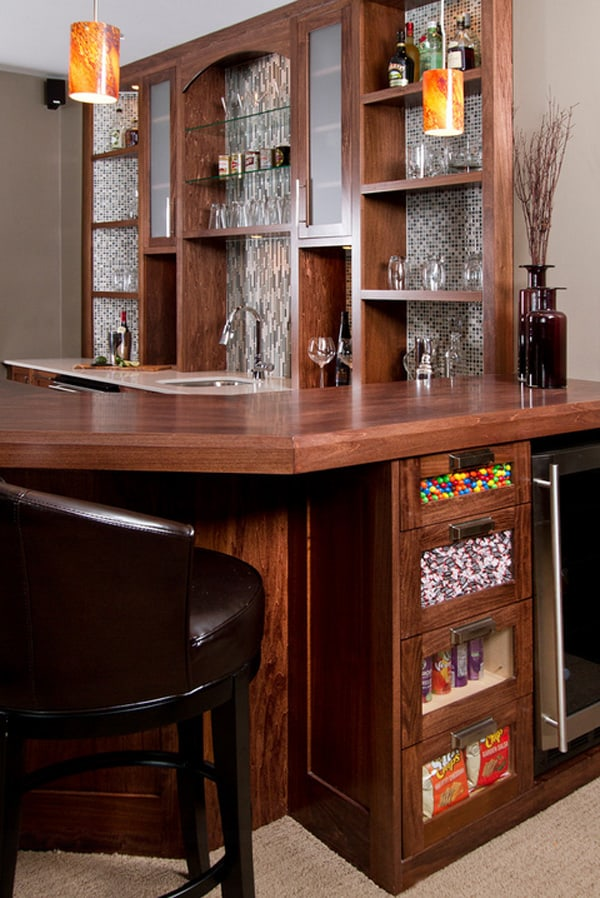 Exquisite Home Bar Designs Built For Entertaining - Home bar decorating ideas