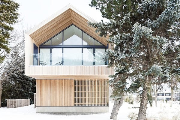 featured posts image for Contemporary ski chalet in Collingwood: Maison Glissade