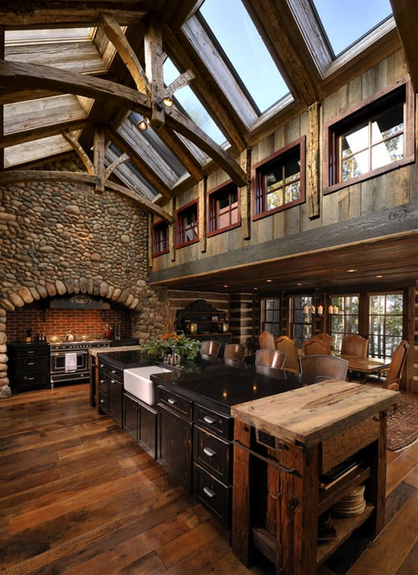 Rustic Kitchens In Mountain Homes 01 1 Kindesign