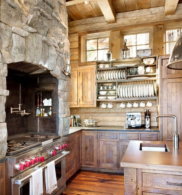 Rustic Kitchens In Mountain Homes 02 1 Kindesign