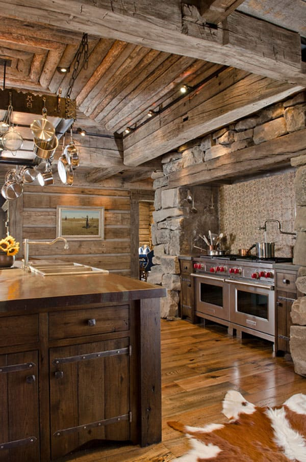 Rustic Kitchens in Mountain Homes-03-1 Kindesign