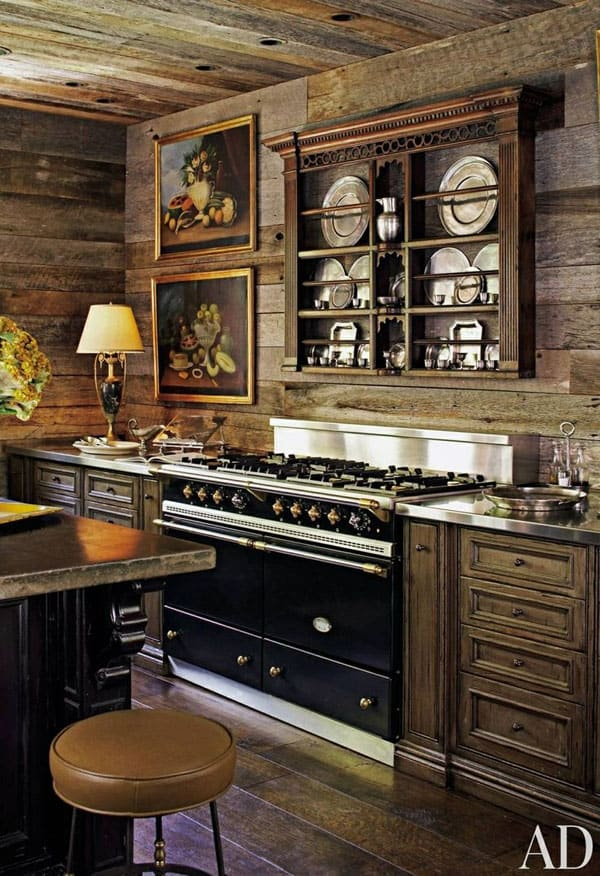 Rustic Kitchens in Mountain Homes-07-1 Kindesign