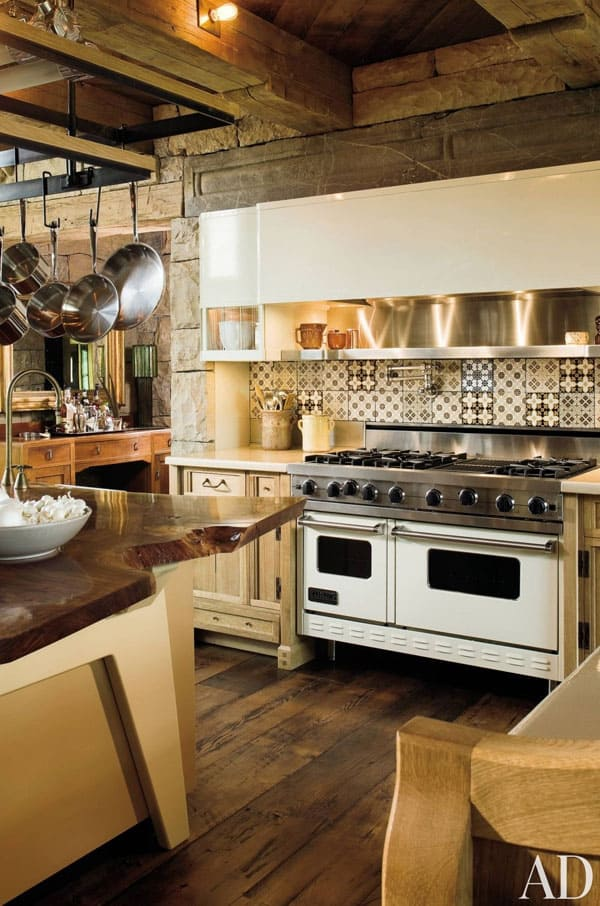 Rustic Kitchens in Mountain Homes-08-1 Kindesign