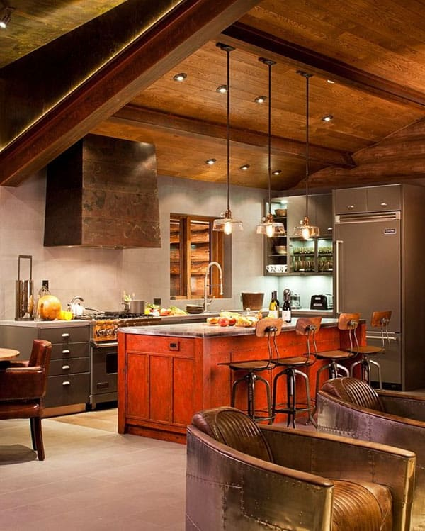 Rustic Kitchens in Mountain Homes-09-1 Kindesign