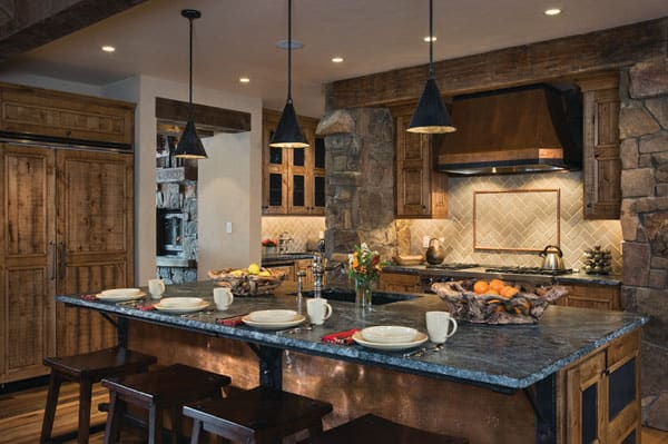 Rustic Kitchens in Mountain Homes-12-1 Kindesign