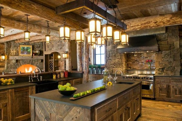Rustic Kitchens in Mountain Homes-16-1 Kindesign