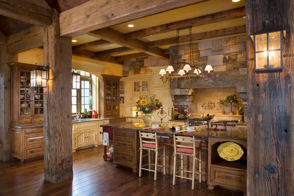 Rustic Kitchens in Mountain Homes-17-1 Kindesign