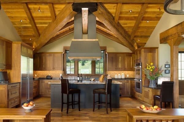 Rustic Kitchens in Mountain Homes-19-1 Kindesign