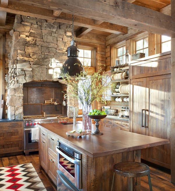 Rustic Kitchens in Mountain Homes-21-1 Kindesign