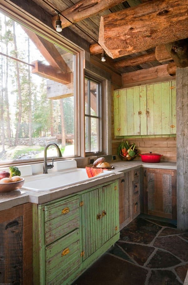Rustic Kitchens in Mountain Homes-23-1 Kindesign