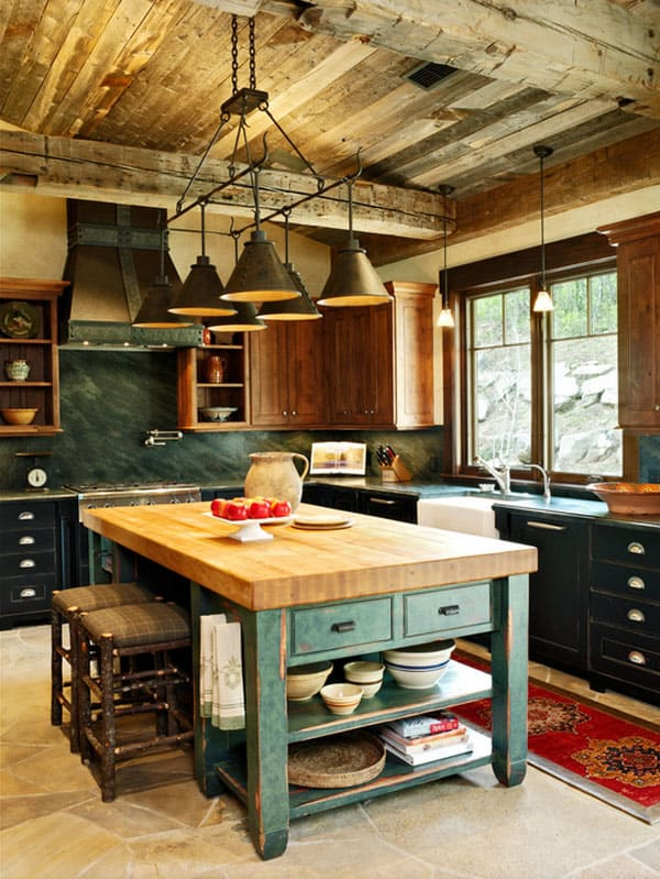Rustic Kitchens in Mountain Homes-24-1 Kindesign