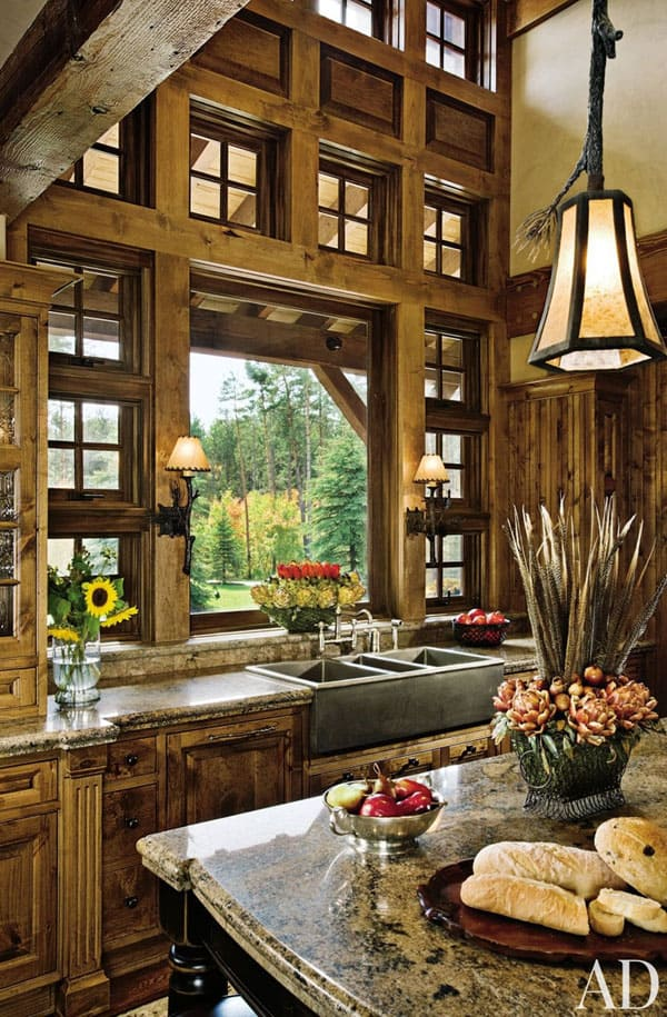 Rustic Kitchens in Mountain Homes-25-1 Kindesign