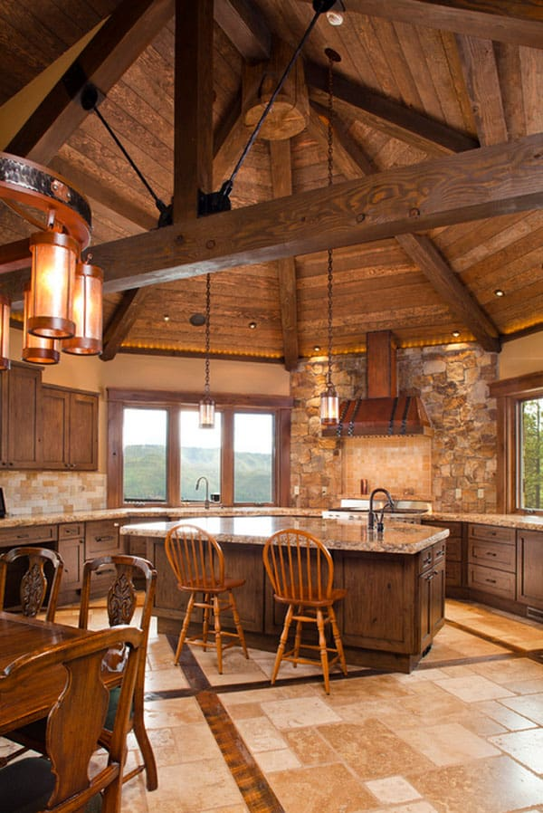 Rustic Kitchens in Mountain Homes-26-1 Kindesign