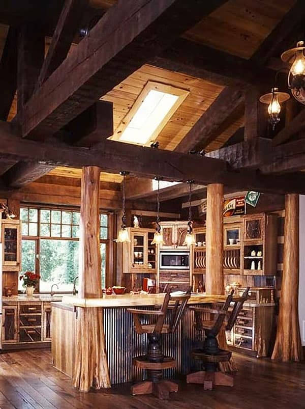 Rustic Kitchens in Mountain Homes-27-1 Kindesign
