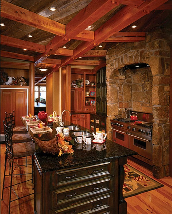 Rustic Kitchens in Mountain Homes-30-1 Kindesign