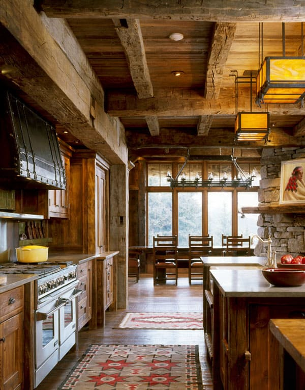 Rustic Kitchens in Mountain Homes-31-1 Kindesign