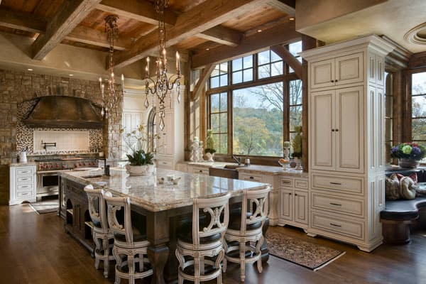 Rustic Kitchens in Mountain Homes-32-1 Kindesign