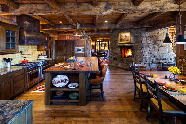 Rustic Kitchens in Mountain Homes-33-1 Kindesign
