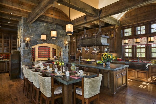 Rustic Kitchens in Mountain Homes-35-1 Kindesign